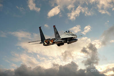 F15 Wall Art - Digital Art - Eagle Scramble by J Biggadike