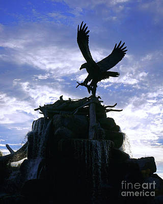 Photograph - Eagle Sculpture by Roxie Crouch