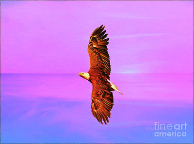 Art Print featuring the painting Eagle Series Painterly by Deborah Benoit