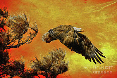 Art Print featuring the painting Eagle Series Strength by Deborah Benoit