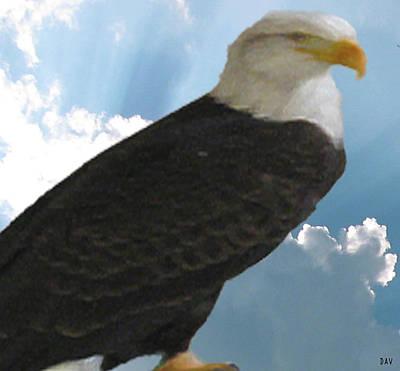 Eagle Sky Art Print by Debra     Vatalaro