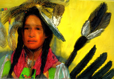 Art Print featuring the painting Eagle Spirit by FeatherStone Studio Julie A Miller