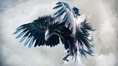Digital Art - Eagle by Super Lovely