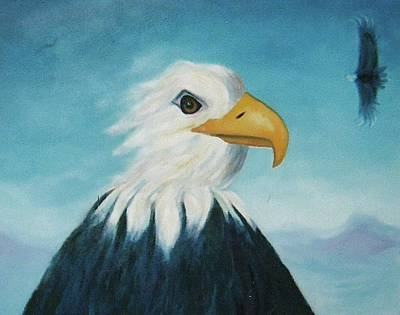Eagle Art Print by Suzanne  Marie Leclair
