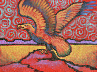Painting - Eagle Totem by Linda Ruiz-Lozito