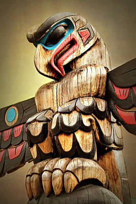 Photograph - Eagle Totem Pole - Freedom Of Spirit by Peggy Collins