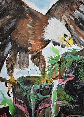 Painting - Eagle Totem by Susan Snow Voidets