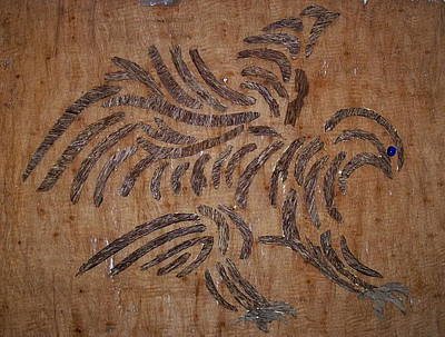 Eagle Tribal Of Agar Wood Print by Joedhi