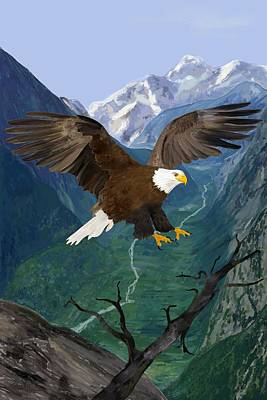 Digital Art - Eagle by Victor Shelley