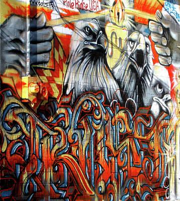 Photograph - Eagle Wall Graffiti by Nadalyn Larsen