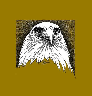 Painting - Eagle With Tear Shirt by John D Benson