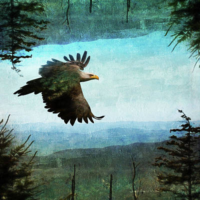 Painting - Eagle World by Christina VanGinkel