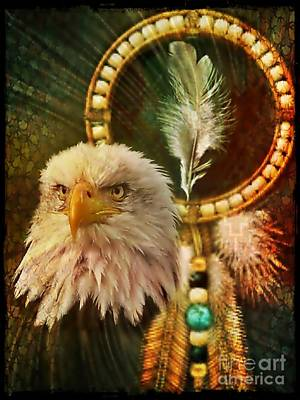 Digital Art - Eaglehead by Maria Urso