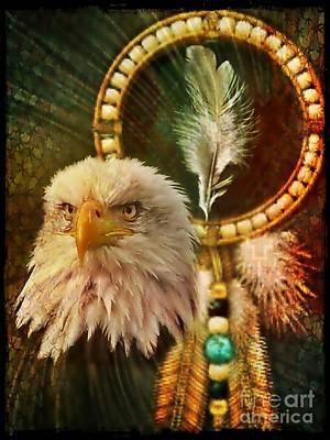 Digital Art - Eaglehead by Maria Urso