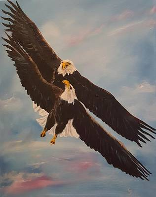 Painting - Eagles Dance      12 by Cheryl Nancy Ann Gordon