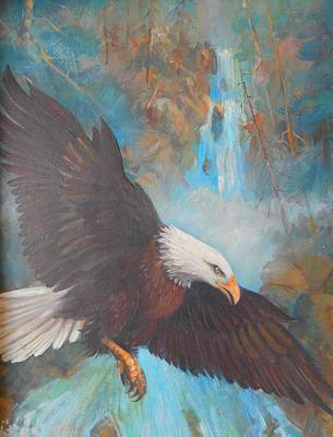 Lynn Burton Painting - Eagle's Flight by Lynn Burton