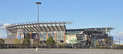 Eagles Football Stadium - The Linc Art Print by Bill Cannon