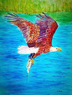 Painting - Eagle's Lunch by Anne Sands