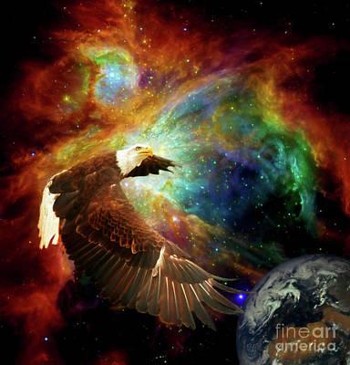 Digital Art - Eagles Nebula by Suzanne Handel