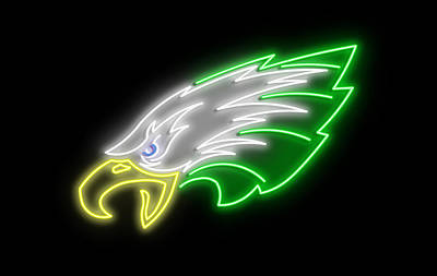 Birds Rights Managed Images - Eagles Neon Sign Royalty-Free Image by Ricky Barnard
