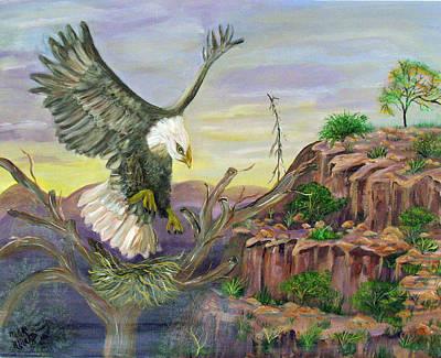 Eagles Nest Art Print by Mikki Alhart