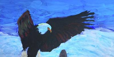 Painting - Eagles Print 1 by Donald J Ryker III