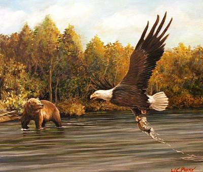 Painting - Eagle's Prey by Perrys Fine Art
