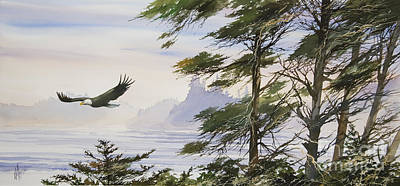 Eagle's Shore Art Print by James Williamson