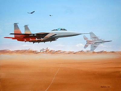 Eagles Art Print by Werner Pipkorn