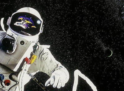 Astronauts Mixed Media - Earh Do You Copy by Brett Cremeens
