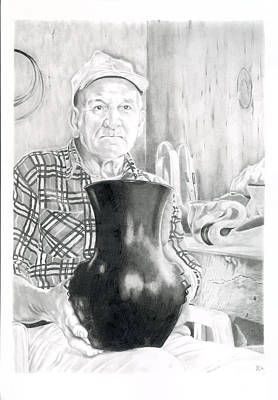 Master Potter Drawing - Earl by Chris Randall