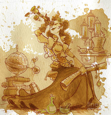 Travel Painting - Earl Grey by Brian Kesinger