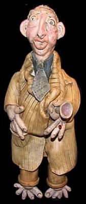 Ceramic Art - Earl by Judy  Hensley