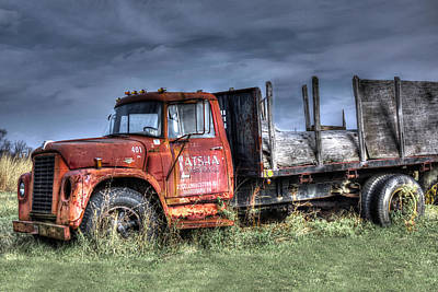 Print featuring the photograph Earl Latsha Lumber Company Version 2  by Shelley Neff