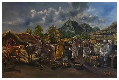 Communal Painting - Earl Settlement.mauritius 1930's by Raouf Oderuth
