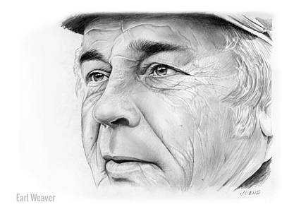 Oriole Drawing - Earl Weaver by Greg Joens