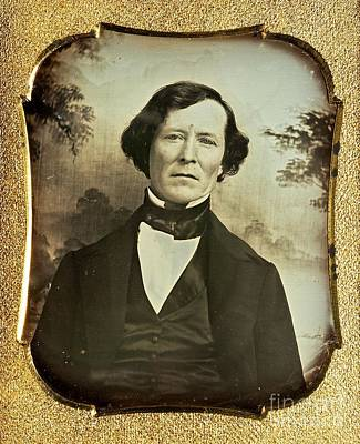 Photograph - Earliest Known Photo Image Of Kit Carson Circa 1846 by Peter Gumaer Ogden Collection