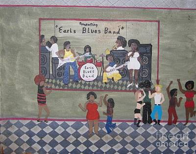 Earls Blues Band Art Print by Gregory Davis