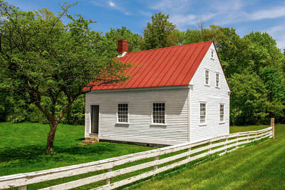 Photograph - Early 1800s New England School House  -  Early1800snewengschoolhouse184611 by Frank J Benz