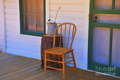 Photograph - Early 1900 Front Porch 11918 by Ray Shrewsberry