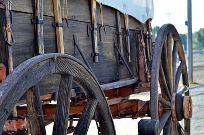 Photograph - early 1900s Farm Wagon by Kae Cheatham