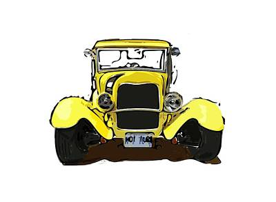 Digital Art - Early 1930s Ford Yellow by Eduardo Tavares
