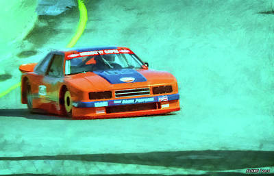 Mixed Media - Early 1980s Mercury Capri Scca Trans-am Racer by Ken Morris