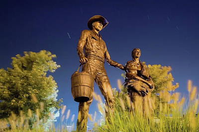 Photograph - Early 20th Century Family - Broken Arrow Oklahoma by Gregory Ballos