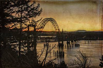 Early Am At The Yaquina Bay Bridge Art Print