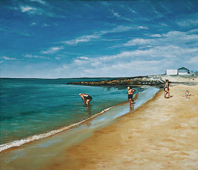 Cape Cod Painting - Early Arrivals by Erik Schutzman