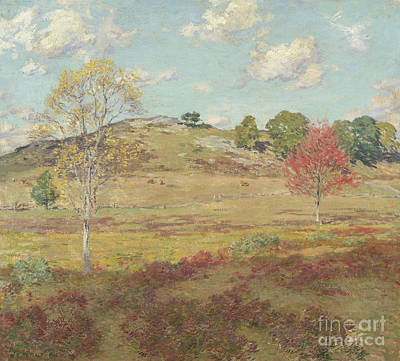 Heather Painting - Early Autumn, 1905  by Willard Leroy Metcalf