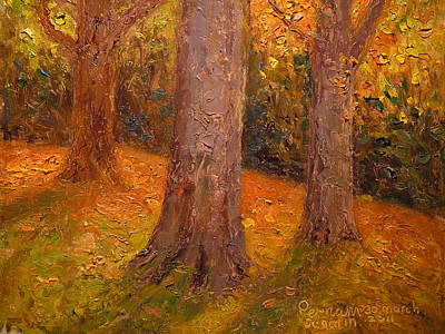 Painting - Early Autumn 2011 by Terry Perham