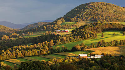 Photograph - Early Autumn Countryside by Alan L Graham