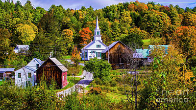 Photograph - Early Autumn In Waits River by Scenic Vermont Photography